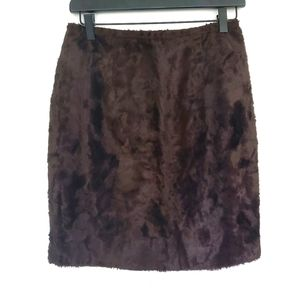 Faux fur mini skirt vintage